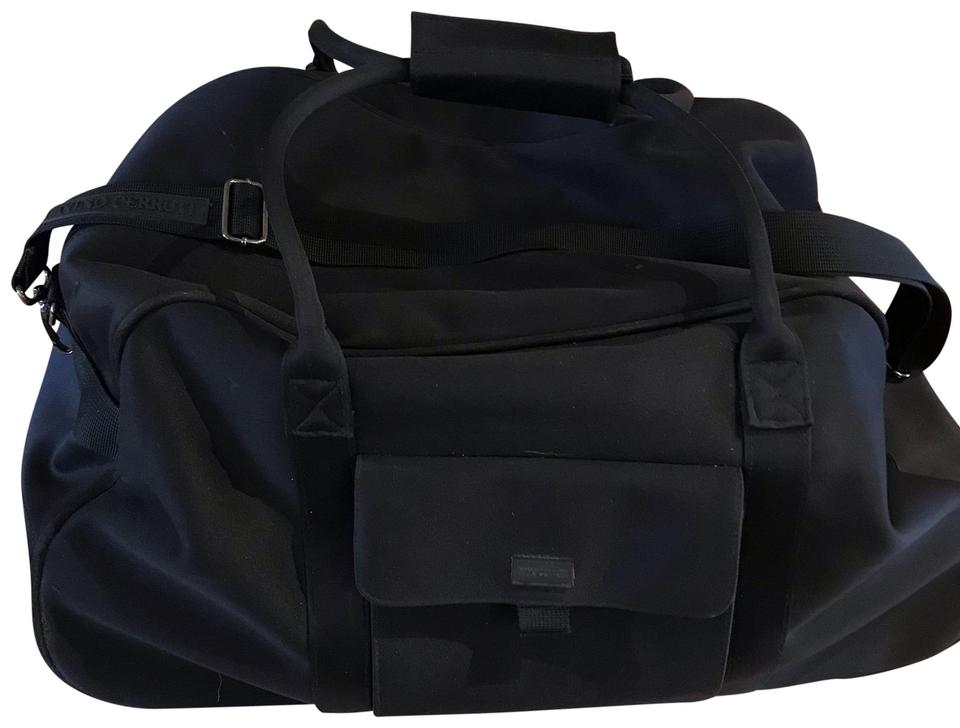 224b4b73b7 Vintage Duffel Black Man Made Weekend/Travel Bag - Tradesy