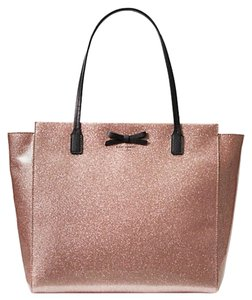 Kate Spade Oops A Daisy Large Travel Mavis Street Taden Tote in Rose Gold