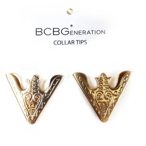 BCBGeneration Toned shirt collar tips pins western boho style cowboy cowgirl