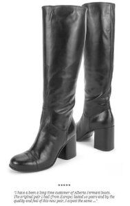 Alberto Fermani Leather Italian Black Boots