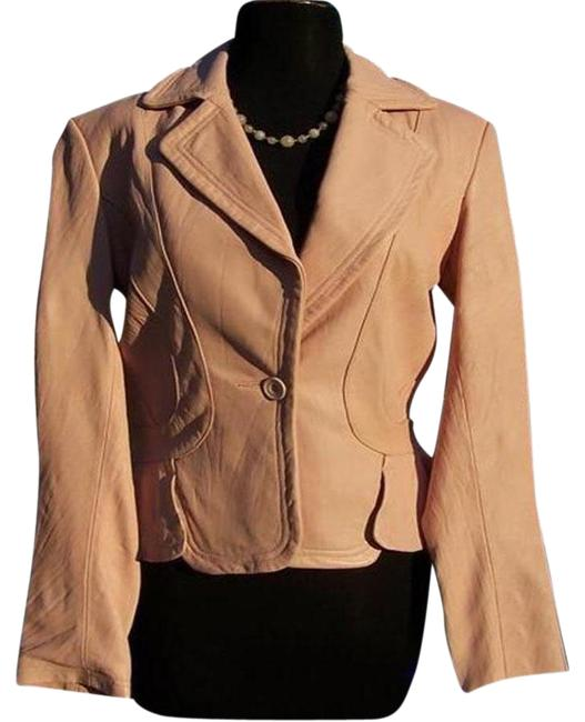 Item - Light Pink Texture Top Baby Lip Color Lined Jacket Size 12 (L)