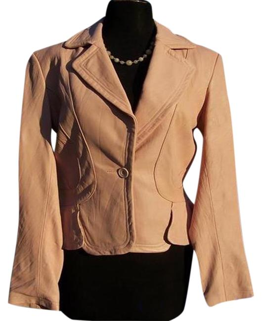 Item - Light Pink Texture Top Baby Lip Color Lined Jacket Size 2 (XS)