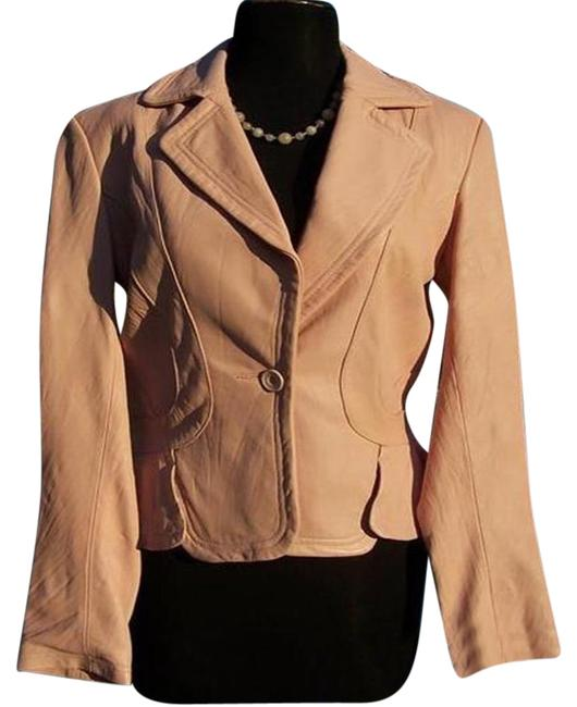Item - Light Pink Texture Top Baby Lip Color Lined Jacket Size 4 (S)