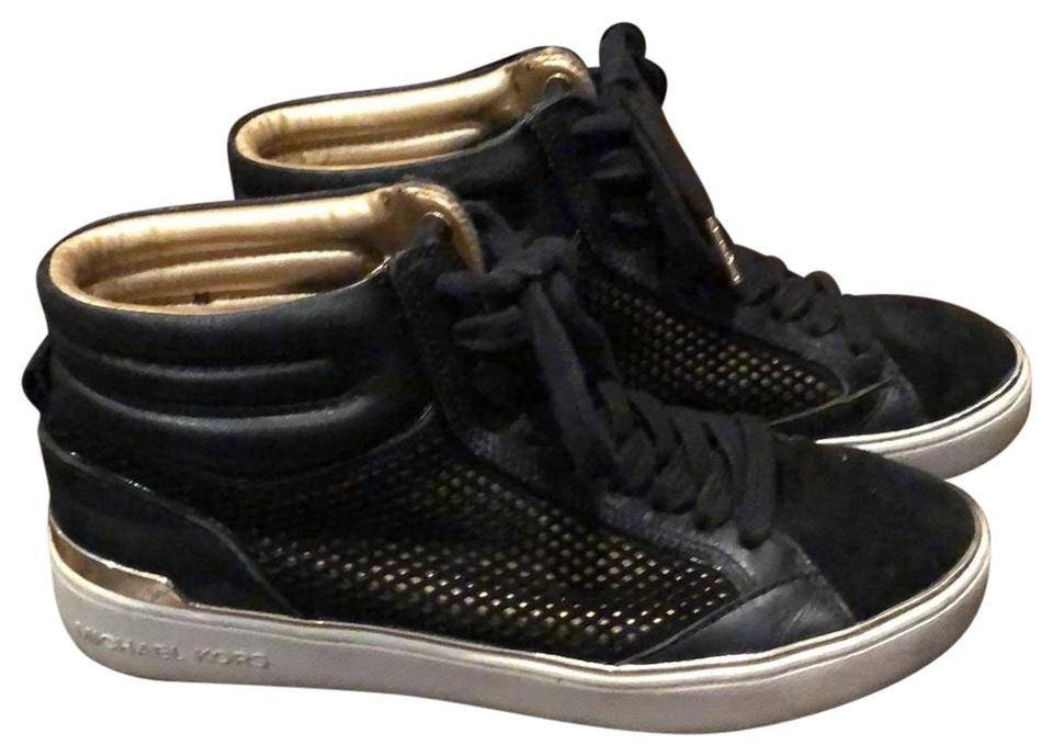 4ea62e35f261 Michael Kors Black and Gold High Top Sneakers Sneakers Size US 7 ...