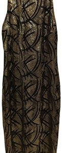 Alexia Admor short dress gold and black on Tradesy