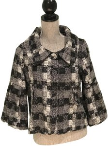 Buffalo David Bitton Buffalo David Bitton Black and White Checkered Jacket (Size Small)