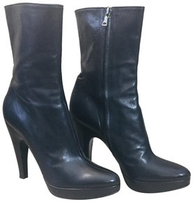 Prada #blackleather #sexy #miniplatform #ankleboot Black Boots