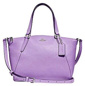 Coach Metallic Hobo Purse Satchel in purple