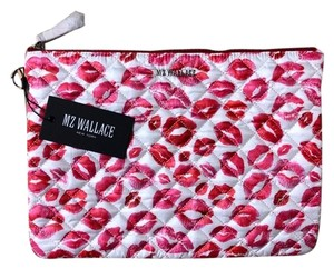 MZ Wallace White, Pink, Red Clutch