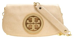 Tory Burch Leather Beige Clutch