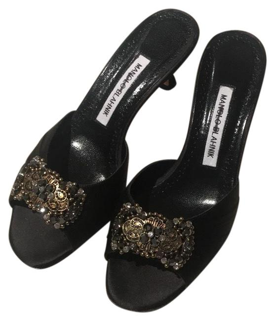 Item - Black Sandals Size US 7 Regular (M, B)