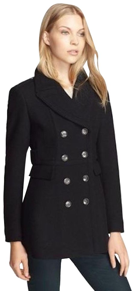 hot-selling latest available best Burberry Navy Womens Wool Cashmere Peacoat Jacket Us Eu 44 Coat Size 10 (M)  37% off retail