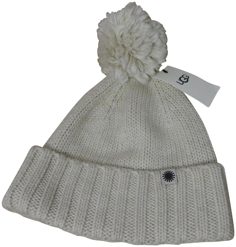 107d79a3805 UGG Australia Ugg Winter Knit Pom Cuff Hat. New with tags Ivory Color ...