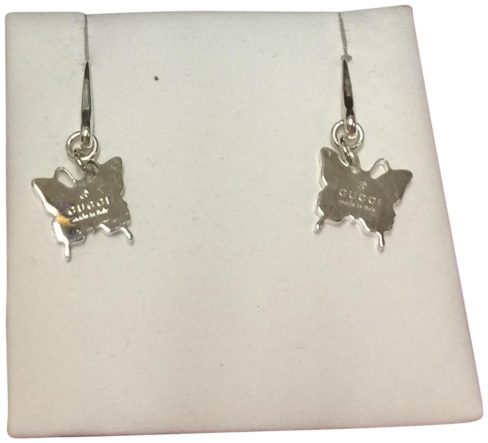 f29483d3ed2 Gucci NWT GUCCI Sterling Silver Butterfly Earrings Image 0 ...
