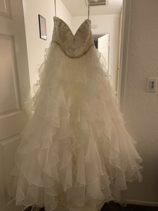Alfred Angelo Ivory Saphire Formal Wedding Dress Size 18 (XL, Plus 0x)