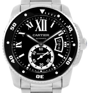 Cartier Cartier Calibre 42mm Diver Black Dial Steel Mens Watch W7100057