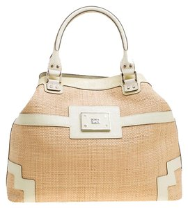 Anya Hindmarch Patent Leather Tote in Beige