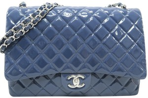Chanel Vernis Maxi Double Flap Shoulder Bag