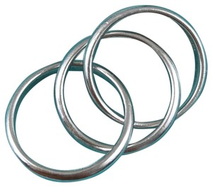 Tiffany & Co. Silver Rolling Interlocking Triple Band