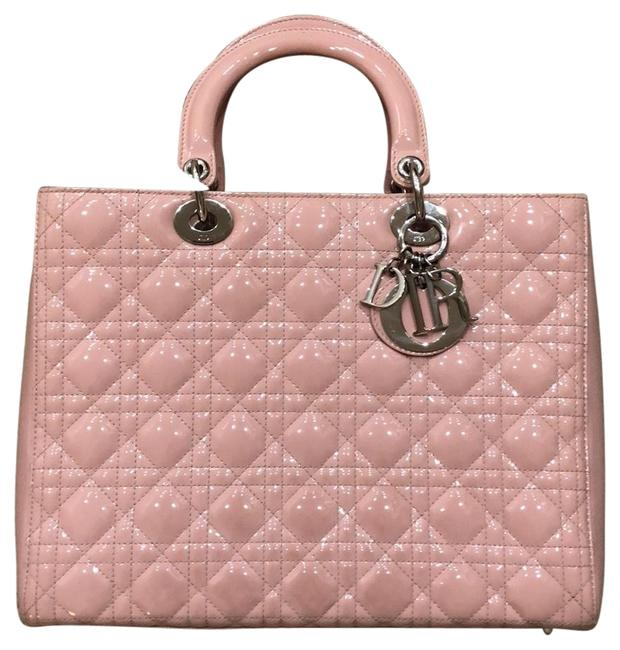Item - Lady Tote Large Baby Pink Patent Leather Satchel
