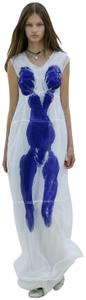White Blue Maxi Dress by Céline