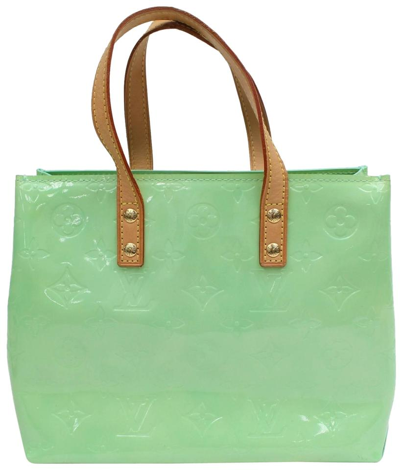 04660294b5d3 Louis Vuitton Reade Menthe Monogram Vernis Mint Pm 868808 Green Patent  Leather Tote