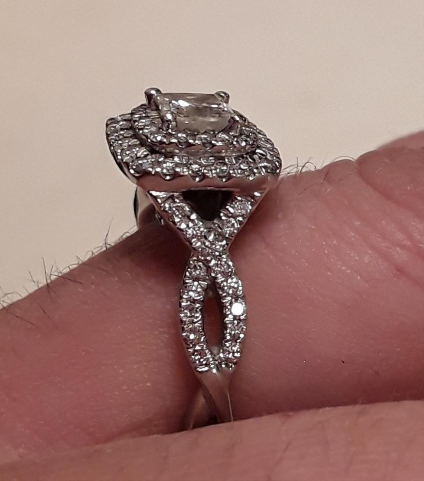 Engagement Rings Kay Jewelers: Kay Jewelers H Double Halo Princess Cut Engagement Ring