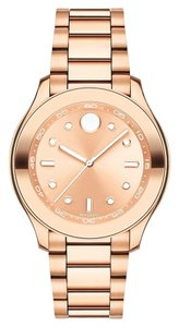 Movado Movado Women's Bold Rose Dial Stainless Steel Watch 3600417