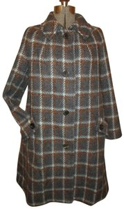 Aquascutum Vintage Check Wool A Line 006 Trench Coat
