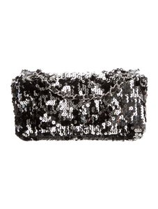 Chanel Sequins Holiday Party Silver Cross Body Bag