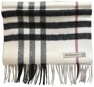 Burberry large ivory check cashmere