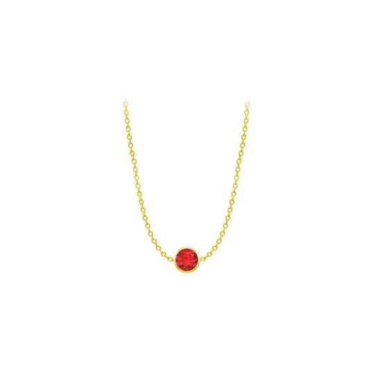 Preload https://img-static.tradesy.com/item/24387950/red-created-ruby-14k-yellow-gold-bezel-set-200-cttw-necklace-0-0-540-540.jpg