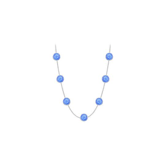 Preload https://img-static.tradesy.com/item/24387980/blue-created-sapphires-14k-white-gold-bezel-set-200-cttw-necklace-0-0-540-540.jpg