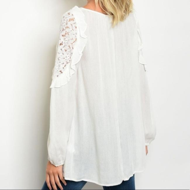 Tassels N Lace Top White Image 1