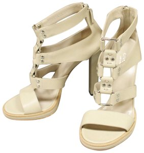 Gucci Gladiator Leather Pumps Oatmeal Platforms
