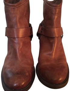 Lucky Brand Leather Leather Designer Brown Boots