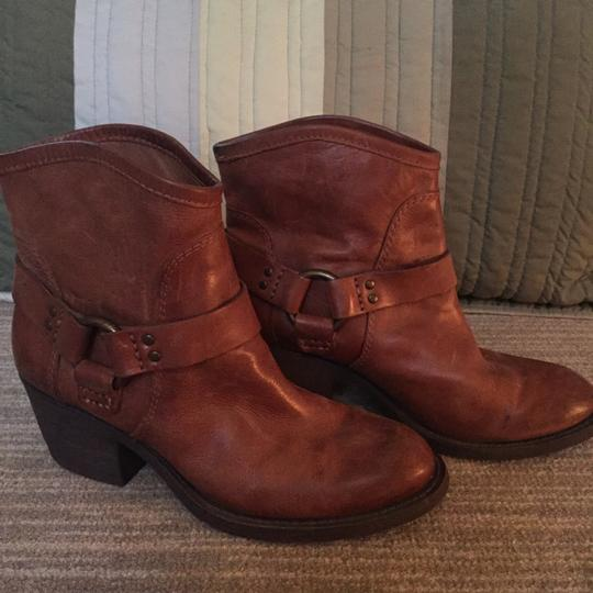 Lucky Brand Leather Leather Designer Brown Boots Image 1