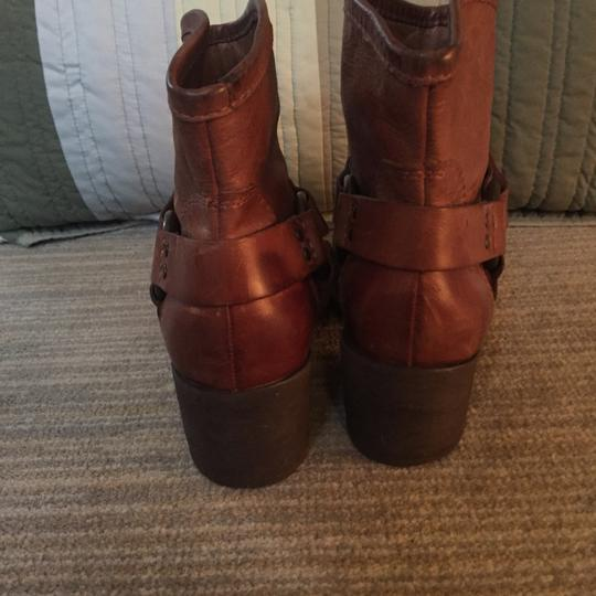 Lucky Brand Leather Leather Designer Brown Boots Image 2