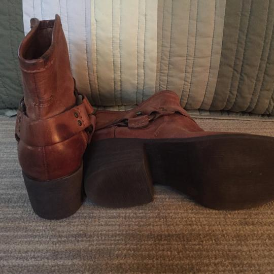 Lucky Brand Leather Leather Designer Brown Boots Image 3
