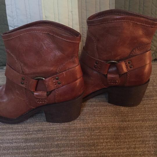 Lucky Brand Leather Leather Designer Brown Boots Image 4