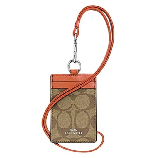 Preload https://img-static.tradesy.com/item/24388081/coach-orange-red-id-lanyard-in-signature-canvas-f63274-0-0-540-540.jpg