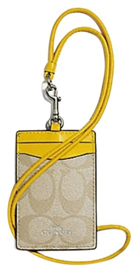 Preload https://img-static.tradesy.com/item/24388112/coach-canary-yellow-id-lanyard-in-signature-canvas-f63274-0-1-540-540.jpg
