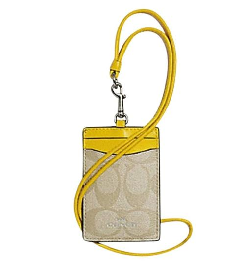 Preload https://img-static.tradesy.com/item/24388119/coach-canary-yellow-id-lanyard-in-signature-canvas-f63274-0-0-540-540.jpg
