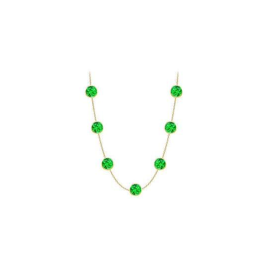 Preload https://img-static.tradesy.com/item/24388139/green-created-emerald-14k-yellow-gold-bezel-set-200-cttw-necklace-0-0-540-540.jpg