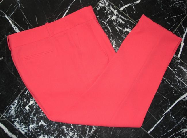 J.Crew Drapery Pleat Front Neon Coral Trouser Pants red Image 1