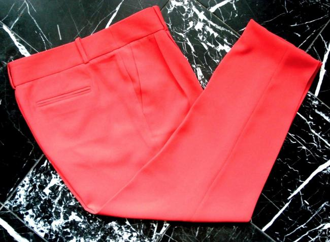 J.Crew Drapery Pleat Front Neon Coral Trouser Pants red Image 2