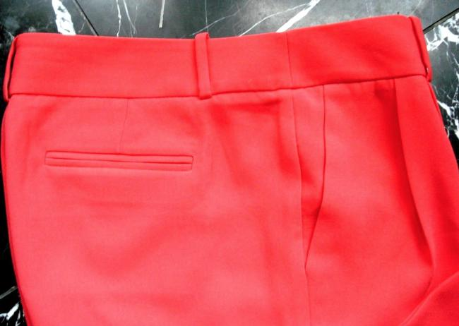 J.Crew Drapery Pleat Front Neon Coral Trouser Pants red Image 3
