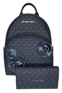 ca6b9956d02b Added to Shopping Bag. Michael Kors Abbey Blue Navy Backpack. Michael Kors  Abbey and Matching Wallet Signature Mk Admiral Leather Backpack