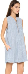 Free People short dress Blue and white on Tradesy