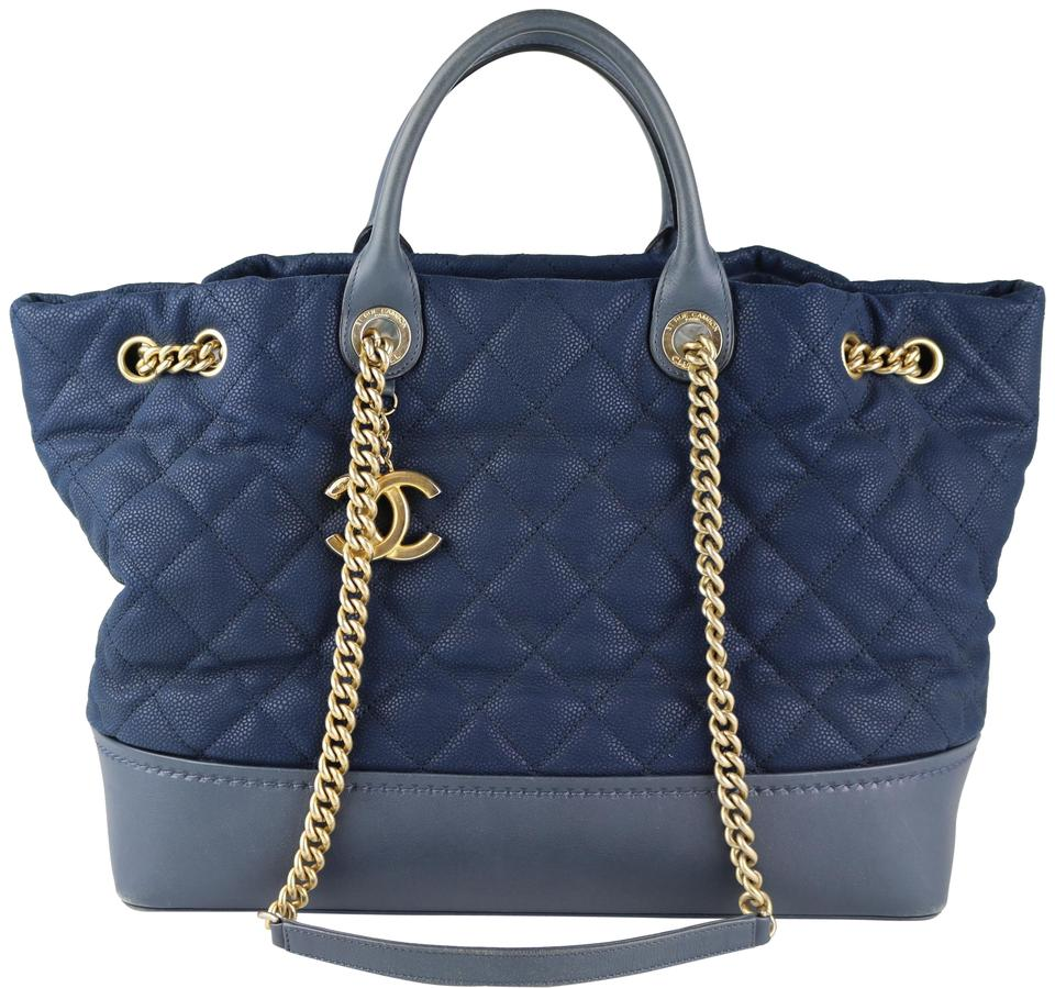 f650e5f1d2efbb Chanel 18 Series Top Handle Caviar Tote in Navy Image 0 ...